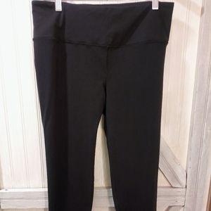 Victorias Secret VSX Large Black Leggings NWOT